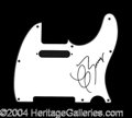 Autographs, Chuck Berry Signed Guitar Pickguard