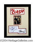 Autographs, The Clash Strummer/Jones Signed Framed Display