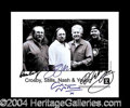 Autographs, Crosby, Stills, Nash, and Young Signed Photo
