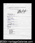 Autographs, En Vogue Rare Group Signed Contract