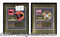 Autographs, Gold Record Plaque Lot