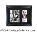 Autographs, Grateful Dead Jerry Garcia Signed Framed Display