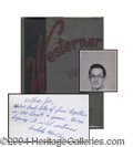 Autographs, Buddy Holly Rare Signed 1955 Senior High School Yearbook