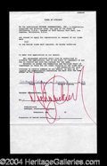Autographs, Michael Jackson Very Rare Signed Document