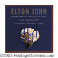 Autographs, Elton John Candle In The Wind Signed CD