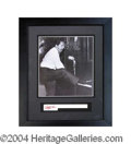 Autographs, Jerry Lee Lewis Signed Piano Key Display