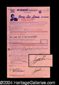 Autographs, Jerry Lee Lewis Signed Concert Contract