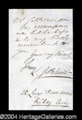 Autographs, Jenny Lind Handwritten Letter Signed