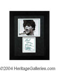 Autographs, Little Richard Signed Framed Display
