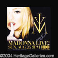 Autographs, Madonna Rare In-Person Signed Poster