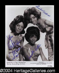 Autographs, Martha & The Vandellas Signed 11 x 14 Photo