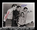 Autographs, Million Dollar Quartet Signed 11 x 14 Photograph