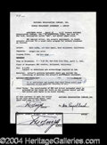 Autographs, Enzo Pinza Rare Signed Document