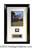 Autographs, Elvis Presley Graceland Relic Framed Display