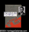 Autographs, Elvis Presley Signed 1953 High School Yearbook