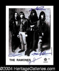 Autographs, The Ramones Signed 8 x 10 Photograph