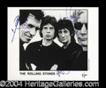 Autographs, The Rolling Stones Signed 8 x 10 Photograph