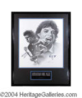 Autographs, Rolling Stones Jagger/Richards Signed Framed Litho