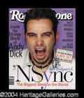 Autographs, Chris Kirkpatrick 'N Sync Signed Rolling Stone Magazine