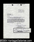 Autographs, Frank Sinatra Rare Signed Capitol Records Document