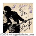 Autographs, Bruce Springsteen & The E Street Band Group Signed Album