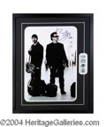 Autographs, U2 Bono & Edge Framed Signed Poster