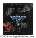 Autographs, Van Halen Signed First Album w/ Roth!