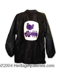 Woodstock Original Logo Jacket From The Show - Direct from the historic event, presented here is an original Woodstock w...