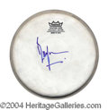 Autographs, Bill Wyman Rolling Stones Signed Drumhead
