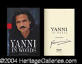 Autographs, Yanni First Edition Signed Book