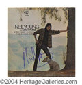 Autographs, Neil Young In-Person Signed Record Album