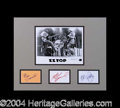 Autographs, ZZ Top Group Signed Matted Display
