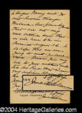 Autographs, Jane Addams Handwritten Letter Signed