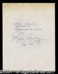 Autographs, Maya Angelou Typed Signed Quotation