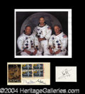 Autographs, Apollo 11 Crew Signed Lot