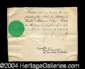 Autographs, George Bancroft Bold Ink Signature