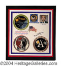 Autographs, Alan Bean Signed Apollo 12 Display