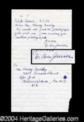 Autographs, David Ben-Gurion Handwritten Letter Signed