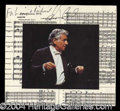 Autographs, Leonard Bernstein Signed Picture Card