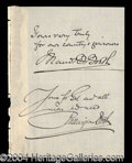 Autographs, Maud & Ballington Booth (PTA) Ink Signatures