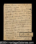 Autographs, William Jennings Bryan Handwritten Letter Signed