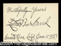 Autographs, Luther Burbank Great Ink Signature