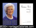 Autographs, Barbara Bush Signed First Edition Book