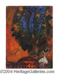 "Autographs, Marc Chagall ""Cover For Ceiling Book"" Signed Litho"