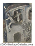 """Autographs, Marc Chagall Signed """"David Saved By Michael"""" Lithograph"""
