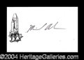 Autographs, Michael P. Anderson Columbia STS-107 Rare Signed Card