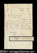 Autographs, Jefferson Davis Handwritten Letter Signed
