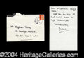 Autographs, Princess Diana Rare Handwritten Letter Signed