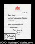 Autographs, Princess Diana Rare Typed Letter Signed