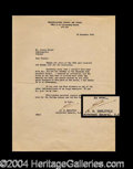 Autographs, James H. Doolittle Letter Signed to Roscoe Turner